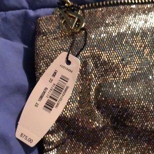 🆕Victoria's Secret Gold sequins clutch NWT🆕